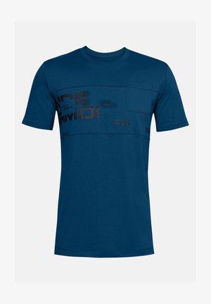 T-shirt print - graphite blue
