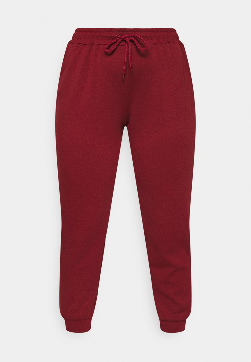 ONLY Play - ONPLOUNGE PANTS CURVY - Tracksuit bottoms - sun dried tomato
