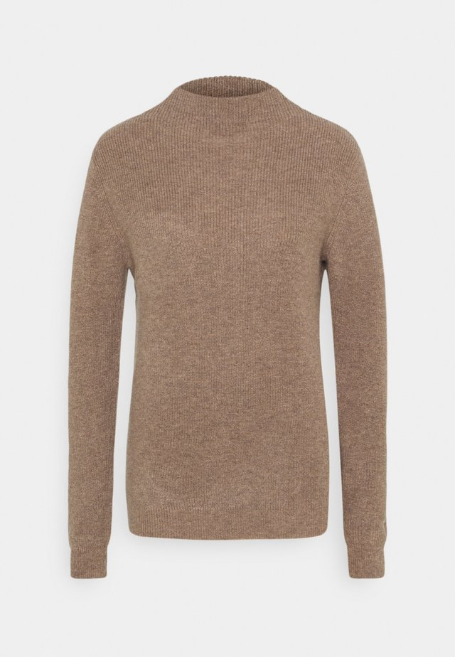 FUNNEL NECK - Jumper - mink