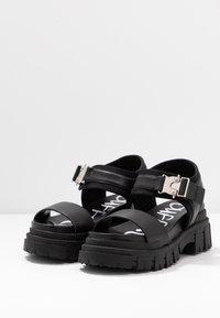 Buffalo - VEGAN JOJO - Platform sandals - black - 4