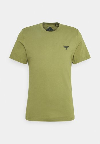 SMALL LOGO TEE - Jednoduché triko - military olive