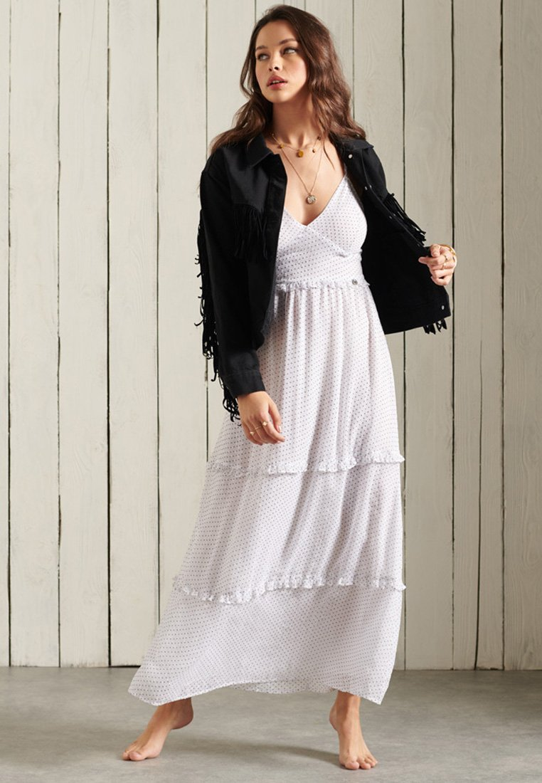 Superdry - MARGAUX - Maxi dress - white polka dot