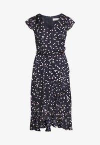 Wallis Petite - SPOT RUFFLE DRESS - Day dress - ink - 4