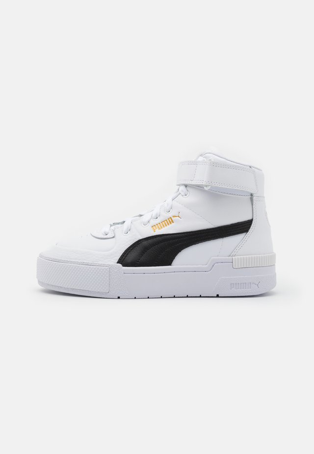 CALI SPORT WARM UP - Sneakers alte - white/black/team gold