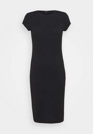 SPLIT SIDE MIDI DRESS - Jersey dress - black