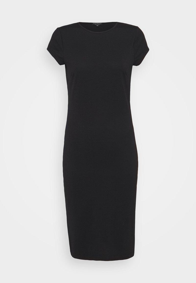 South Beach Petite - SPLIT SIDE MIDI DRESS - Jersey dress - black