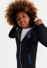 WE Fashion - MET CAPUCHON EN TAPEDETAIL - Sweatjakke /Træningstrøjer - blue - 1