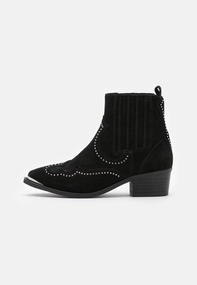 RUTH - Kovbojské/motorkářské boty - black