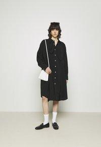Hope - FREE SCARF - Sukienka koszulowa - black - 1