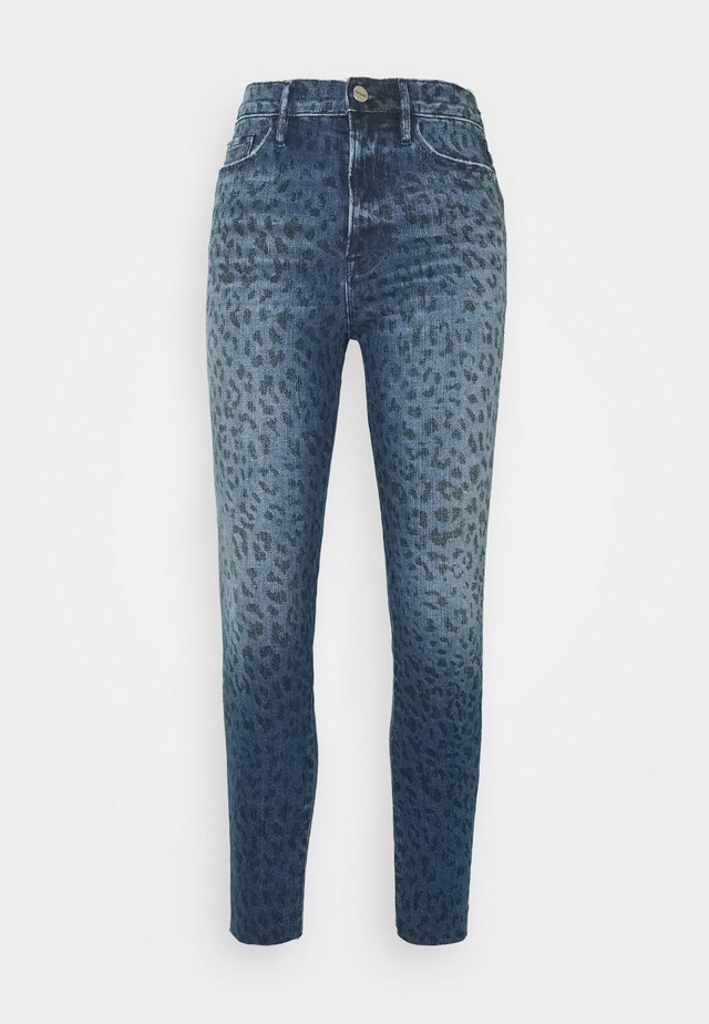 ALI HIGH RISE CIGARETTE RAW AFTER - Skinny-Farkut - blue denim
