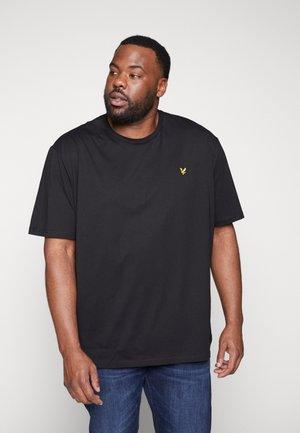 CREW NECK - Basic T-shirt - jet black