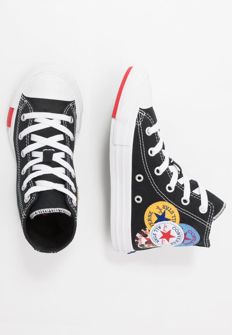 Converse - CHUCK TAYLOR ALL STAR LOGO PLAY - Baskets montantes - black/university red/amarillo