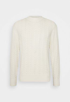 HENRY CABEL SWEATER - Stickad tröja - cloud white