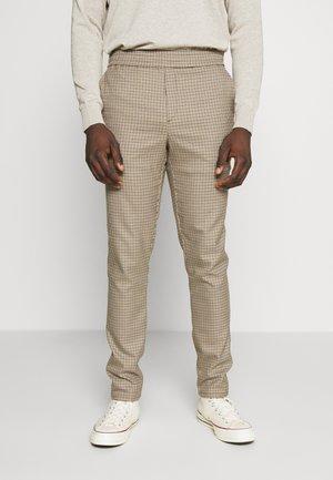 PANTS PETTER CHECK - Kalhoty - silver mink