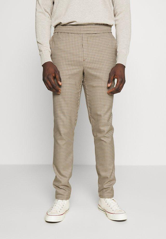 PANTS PETTER CHECK - Trousers - silver mink