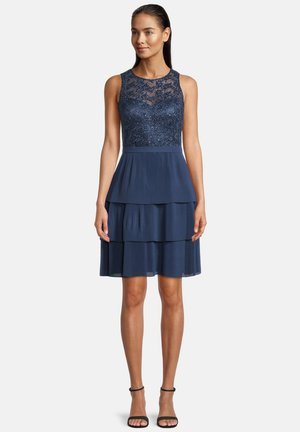 Cocktail dress / Party dress - milky  navy