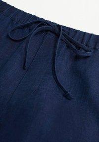 Mango - Kangashousut - námořnická modrá - 5