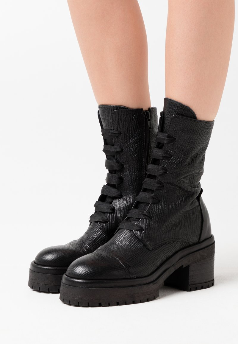 lilimill - RUDY - Kotníkové boty na platformě - squalo nero