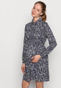 Pieces Maternity - PCMPAOLA DRESS - Shirt dress - blue - 3