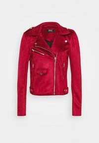 ONLY Tall - ONLSHERRY BONDED BIKER  - Giacca in similpelle - rhubarb - 4