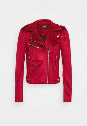 ONLSHERRY BONDED BIKER  - Faux leather jacket - rhubarb