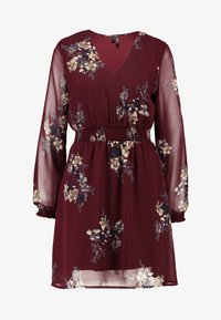 Vero Moda - VMALLIE SHORT SMOCK DRESS - Vardagsklänning - winetasting - 5