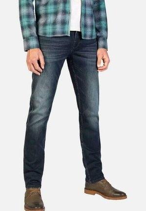 Slim fit jeans - blue-black denim