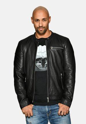 SCHLICHT - Leren jas - black