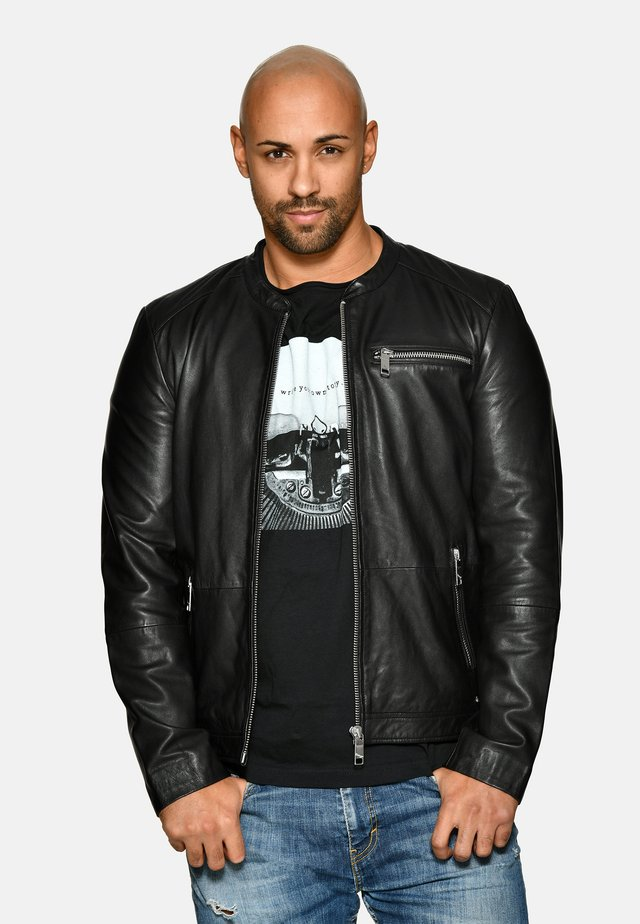 SCHLICHT - Leather jacket - black
