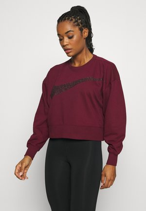 GET FIT - Sweatshirt - dark beetroot/white
