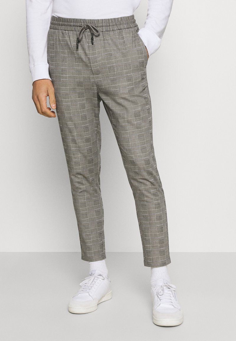 Only & Sons - ONSLINUS LIFE CHECK  - Pantalon classique - medium grey melange