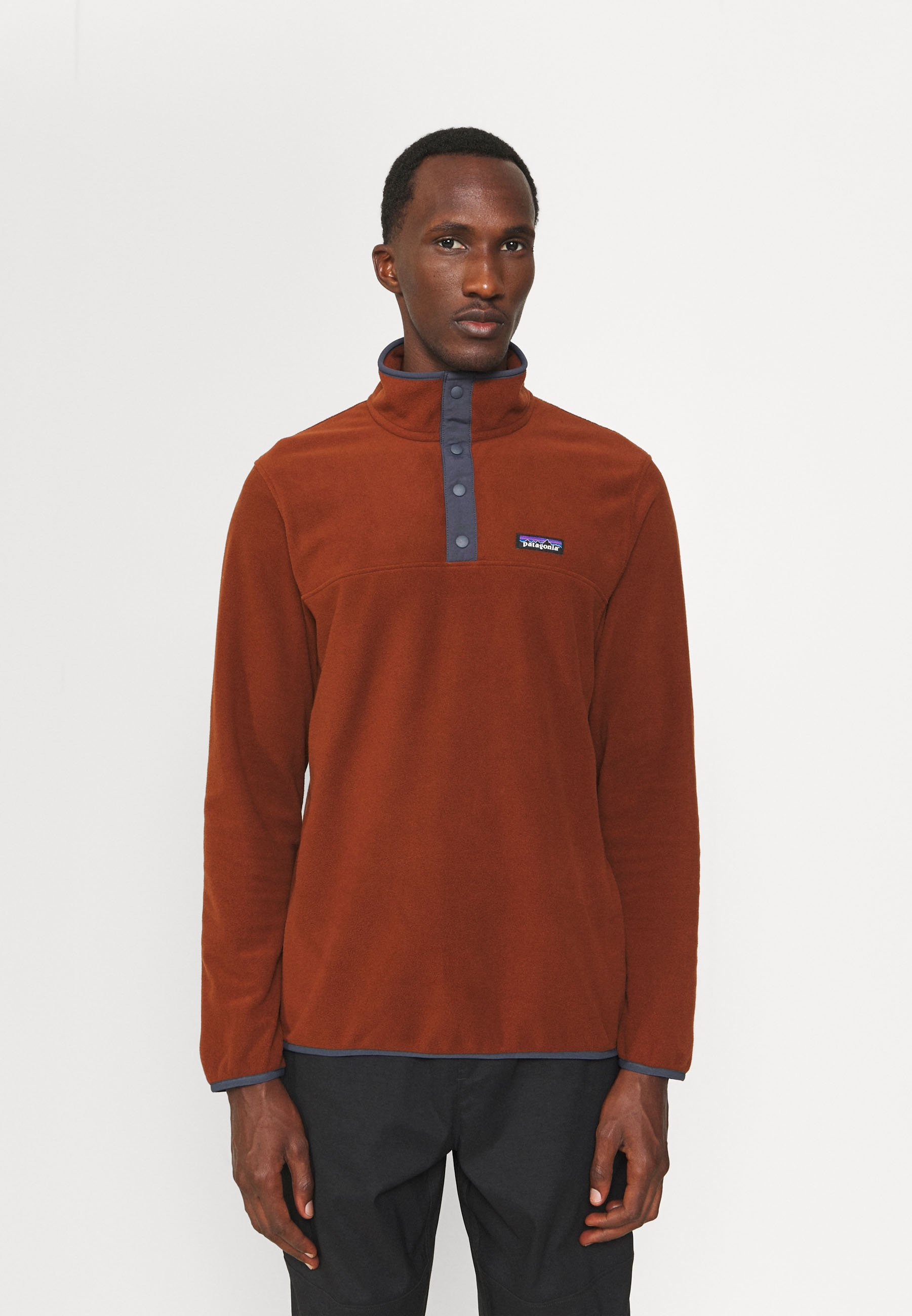 Men MICRO SNAP - Fleece jumper