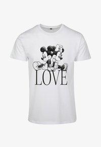 Merchcode - MINNIE LOVES MICKEY  - T-shirt print - white - 4