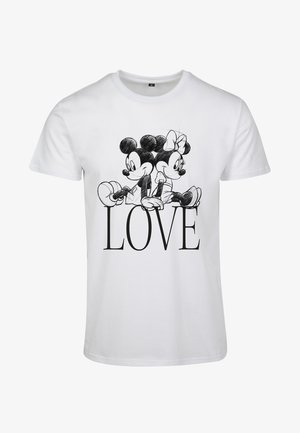 MINNIE LOVES MICKEY  - T-shirt z nadrukiem - white
