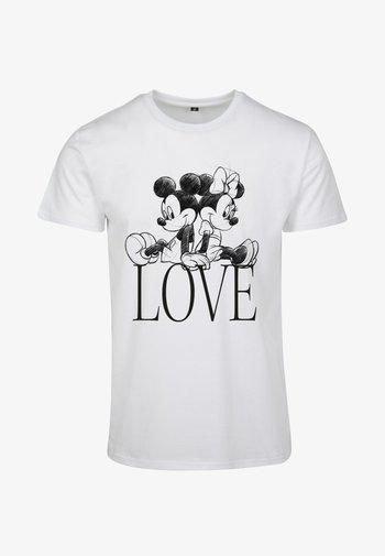 MINNIE LOVES MICKEY  - T-shirt con stampa - white