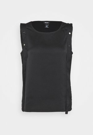 SNAP TANK - Blouse - black
