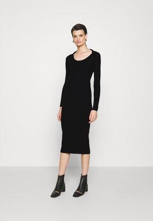 DRESS - Gebreide jurk - black