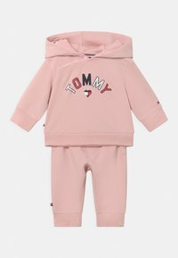 Tommy Hilfiger - BABY HOODED SET UNISEX - Trainingspak - pink - 0