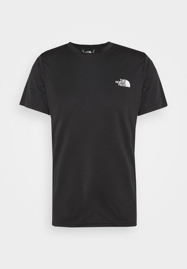 REAXION BOX TEE - T-shirt con stampa - black