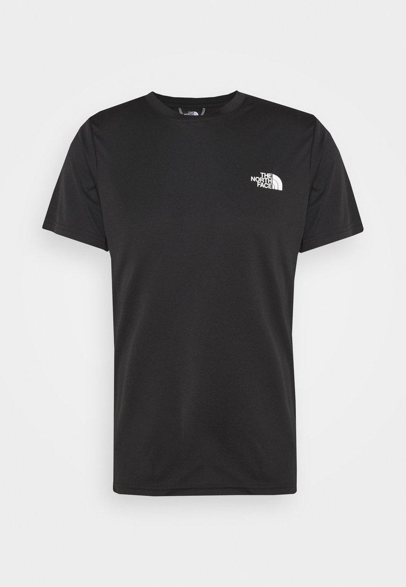 The North Face - REAXION BOX TEE - T-shirt z nadrukiem - black