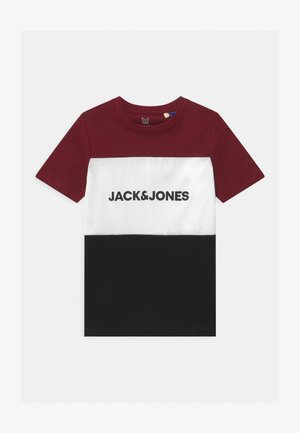 JJELOGO BLOCKING TEE - Print T-shirt - port royale