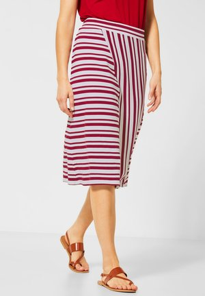 MIT STREIFENMIX - A-line skirt - rot