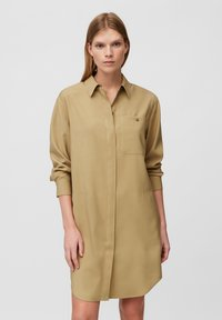 Marc O'Polo - DRESS CUFFED SLEEVE - Shirt dress - sandy beach - 0