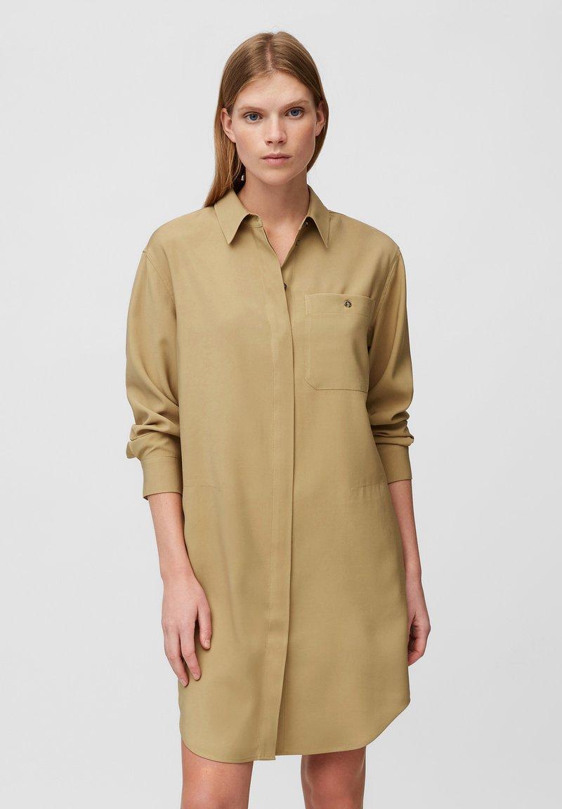 Marc O'Polo - DRESS CUFFED SLEEVE - Shirt dress - sandy beach