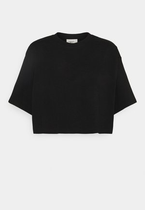 CLAIRE CROPPED TEE - Basic T-shirt - black