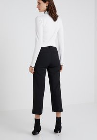 J.CREW - EVERYBODY WIDE LEG SEASONLESS STRETCH - Trousers - black - 2