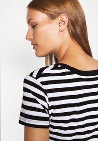 Calvin Klein Jeans - STRIPES BABY TEE - Print T-shirt - black/white - 3