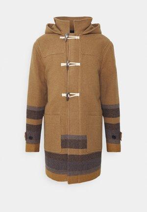 MENS DUFFLE COAT - Zimní kabát - camel/blue