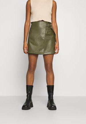 PAM SKIRT - Mini skirt - khaki