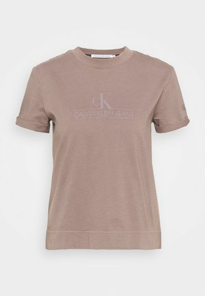 ARCHIVES TEE - Print T-shirt - dusty brown